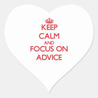 Guarde la calma y el foco en CONSEJO Colcomanias De Corazon Personalizadas
