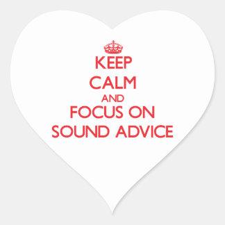 Guarde la calma y el foco en consejo sano