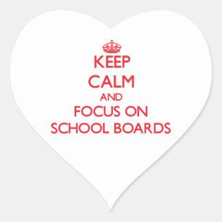 Guarde la calma y el foco en consejos escolares