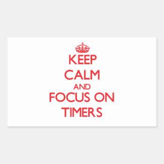 Guarde la calma y el foco en contadores de tiempo pegatina