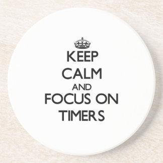 Guarde la calma y el foco en contadores de tiempo