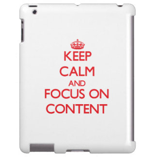 Guarde la calma y el foco en contenido