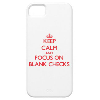 Guarde la calma y el foco en controles en blanco iPhone 5 carcasa