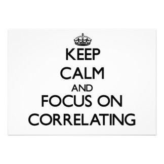 Guarde la calma y el foco en correlacionar