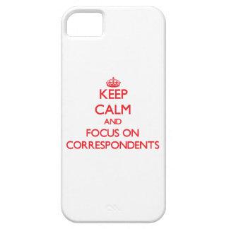 Guarde la calma y el foco en correspondientes iPhone 5 Case-Mate coberturas