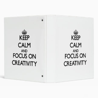 Guarde la calma y el foco en creatividad