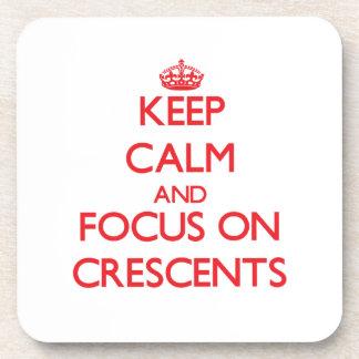 Guarde la calma y el foco en crecientes posavasos