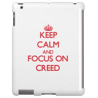 Guarde la calma y el foco en credo