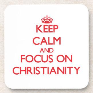 Guarde la calma y el foco en cristianismo