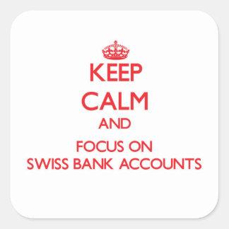 Guarde la calma y el foco en cuentas bancarias colcomania cuadrada