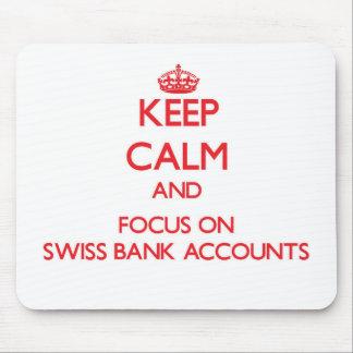 Guarde la calma y el foco en cuentas bancarias tapetes de ratones