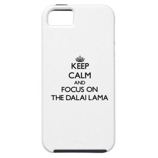 Guarde la calma y el foco en Dalai Lama iPhone 5 Case-Mate Funda
