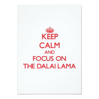 Guarde la calma y el foco en Dalai Lama Comunicados