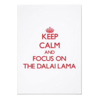 Guarde la calma y el foco en Dalai Lama Invitación Personalizada