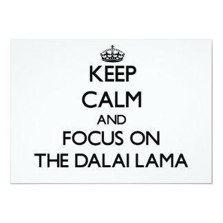 Guarde la calma y el foco en Dalai Lama Anuncio