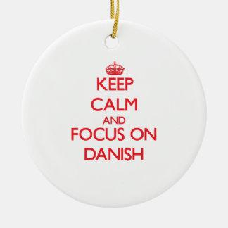 Guarde la calma y el foco en danés