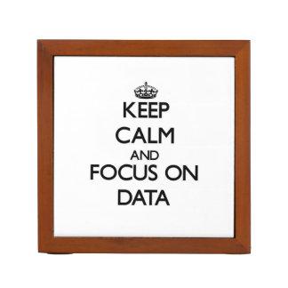 Guarde la calma y el foco en datos