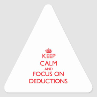 Guarde la calma y el foco en deducciones pegatina trianguladas personalizadas