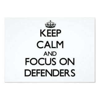 Guarde la calma y el foco en defensores comunicado