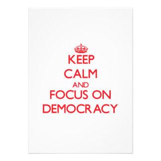 Guarde la calma y el foco en democracia