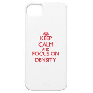 Guarde la calma y el foco en densidad iPhone 5 cárcasas
