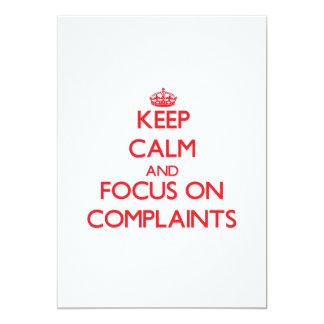 Guarde la calma y el foco en denuncias invitaciones personales