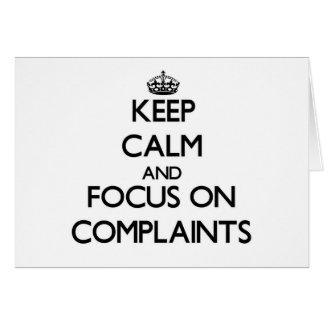 Guarde la calma y el foco en denuncias tarjeton