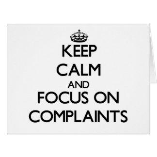 Guarde la calma y el foco en denuncias felicitacion