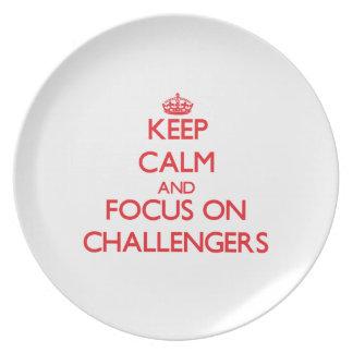 Guarde la calma y el foco en desafiadores plato de comida