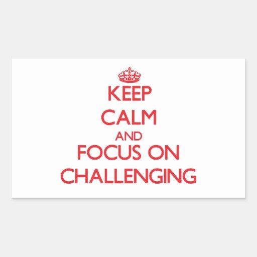 Guarde la calma y el foco en desafiar rectangular altavoz