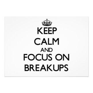 Guarde la calma y el foco en desintegraciones comunicados