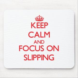Guarde la calma y el foco en deslizarse mouse pad