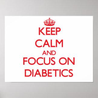 Guarde la calma y el foco en diabéticos