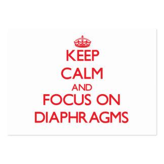 Guarde la calma y el foco en diafragmas
