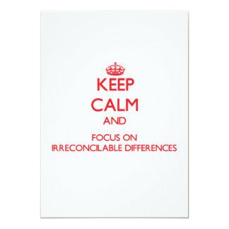 Guarde la calma y el foco en diferencias comunicado personalizado