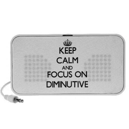 Guarde la calma y el foco en diminutivo iPod altavoz