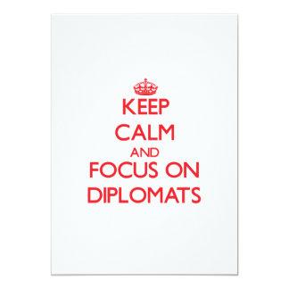 Guarde la calma y el foco en diplomáticos comunicados personalizados