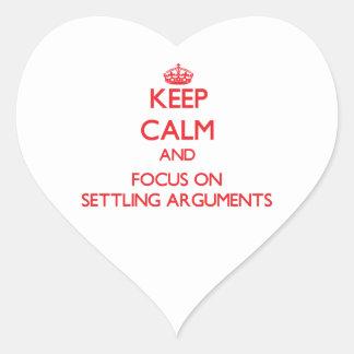 Guarde la calma y el foco en discusiones de establ