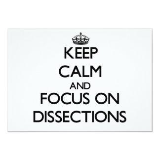 Guarde la calma y el foco en disecciones comunicado personal