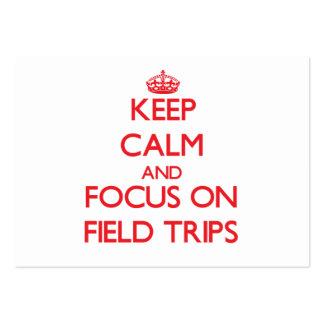 Guarde la calma y el foco en disparos al campo tarjetas de visita grandes