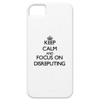 Guarde la calma y el foco en Disreputing iPhone 5 Case-Mate Coberturas