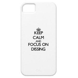 Guarde la calma y el foco en Dissing iPhone 5 Funda