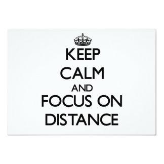 Guarde la calma y el foco en distancia comunicados
