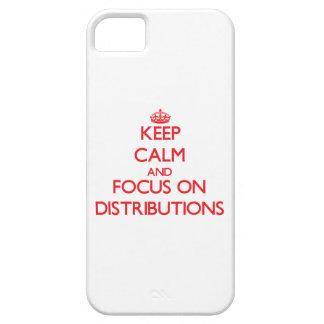 Guarde la calma y el foco en distribuciones iPhone 5 Case-Mate cobertura