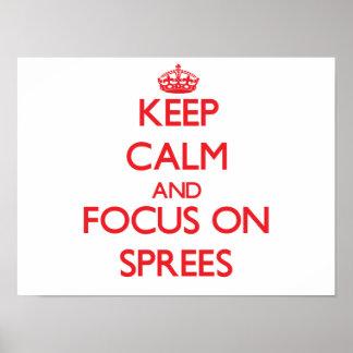 Guarde la calma y el foco en diversiones posters