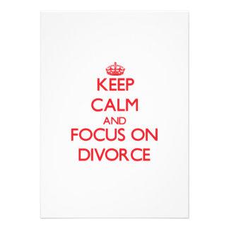 Guarde la calma y el foco en divorcio invitaciones personales