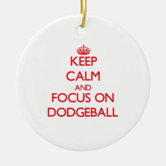 Guarde la calma y el foco en Dodgeball