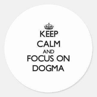 Guarde la calma y el foco en dogma