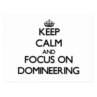Guarde la calma y el foco en Domineering Postal