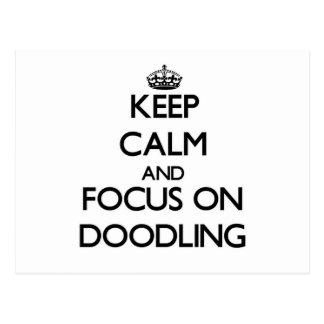 Guarde la calma y el foco en Doodling Postal